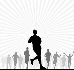 Runner. Sport illustration