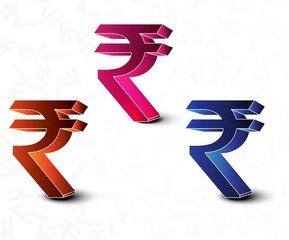 Vector illustration is a abstract rupee sign symbol