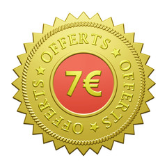 "Label ""7€ Offerts"""