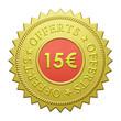 "Label ""15€ Offerts"""