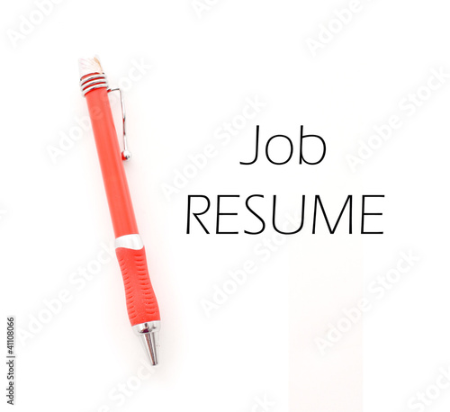 Working on Your Resume