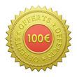"Label ""100€ Offerts"""