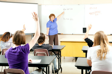 Stock Photo of Teaching Algebra Class