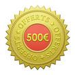 "Label ""500€ Offerts"""