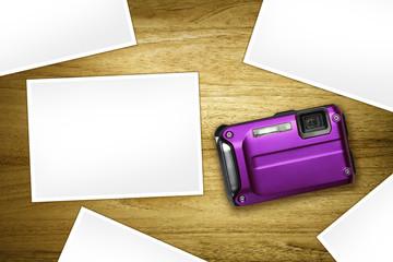 blank photos purple camera
