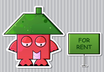 Cartoon real estate business icon