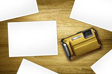 compact camera blank photos
