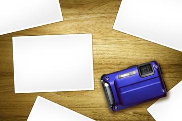 blue compact blank photos