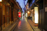 Fototapety Geisha houses on Pontocho Alley, Kyoto, Japan