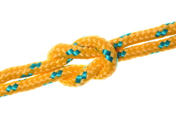 Rope and knots yellow double line