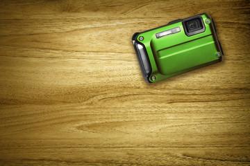 green compact camera