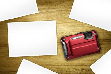 red camera blank photos