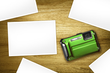 green camera blank photos