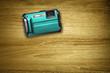 cyan compact camera