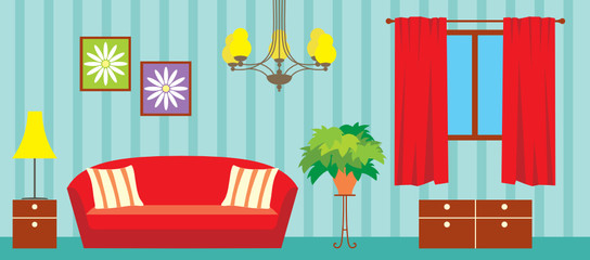 Living room. vector