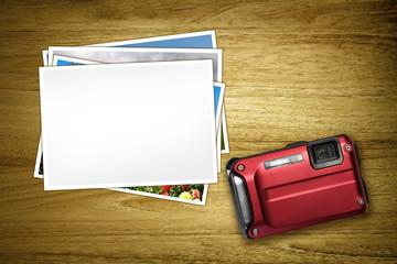 red camera blank photo