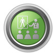 "Green 3D Style Button ""Health Education"""