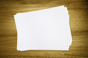 blank paper on desk
