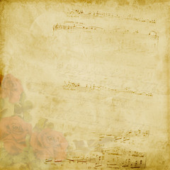 Vintage elegant background with rose