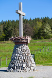 Gross-rosen concencration camp memorial cross