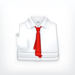 White Dress shirt, vector