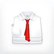 White Dress shirt, vector