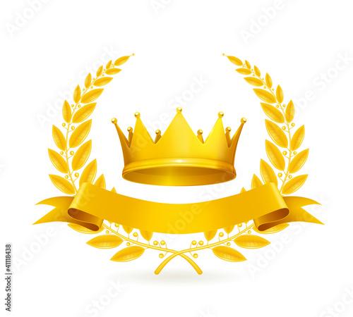 Vintage emblem, gold