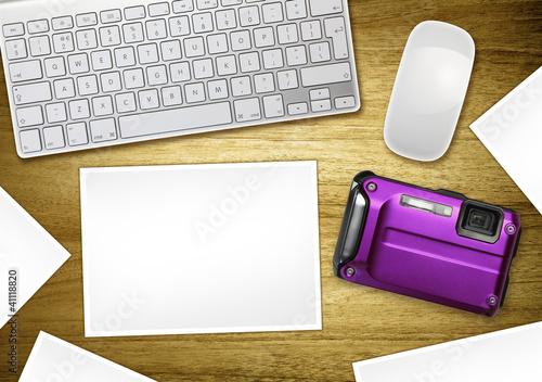 blank photography desktop