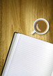 coffee cup notepad
