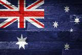australia flag painted on old wood