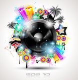 Fototapety Music Club background for disco dance international event