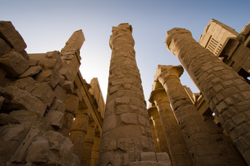 Great Hypostyle Hall of Karnak unfinished colums