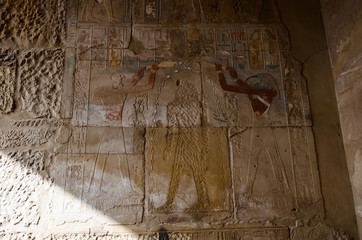 Karnak Temple defaced by early Christians