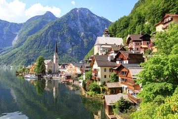 Hallstatt lake and old town in Austria, UNESCO Heritage Site