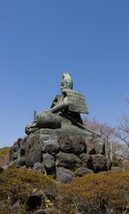Statue of Minamoto Yoritomo in Kamakura, Japan