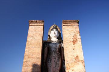 Old buddha statue. Sukhothai historical park, Thailand