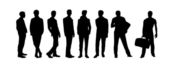 Vector of men silhouettes