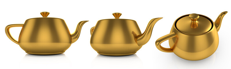 golden teapot