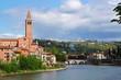 Verona along the river Adige, Italy