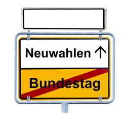 Deutscher Bundestag Neuwahlen