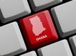 Ghana - Umriss auf Tastatur