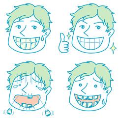 虫歯になった男性