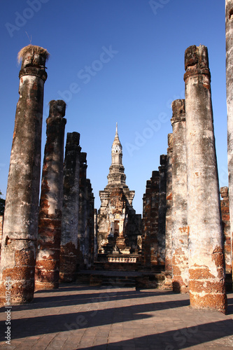 Ancient pagoda in Sukhothai Historical Park, Thailand