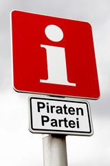 Schild iPunkt Piratenpartei
