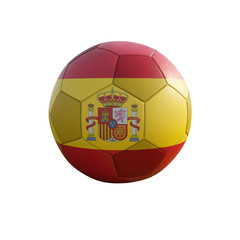 spain soccer ball isolated on white