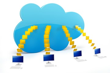 3d cloud computing with terminals