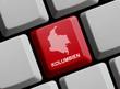 Kolumbien - Umriss auf Tastatur
