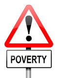 Poverty warning. poster