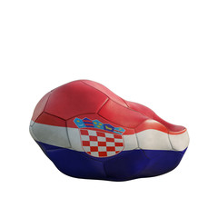 croatia deflated soccer ball