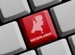 Niederlande / Holland - Umriss auf Tastatur